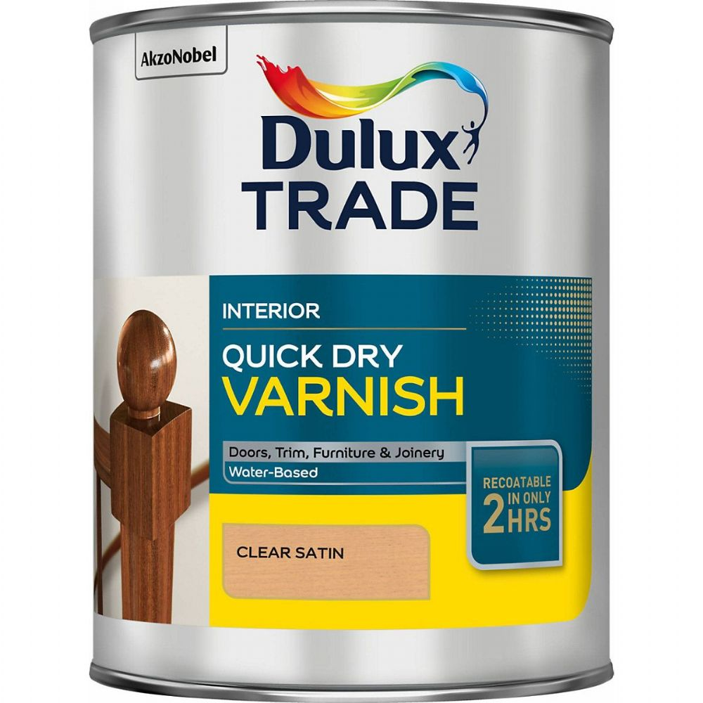 Dulux Trade Quick Dry Varnish Satin Custom Mixed Colours